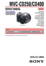 Buy Sony MVC-CD250 SUPP1 Service Manual by download Mauritron #194079