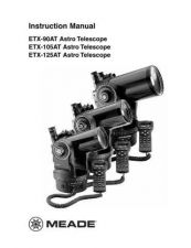 Buy Meade ETX-90 105 125EC man Instruction Manual by download Mauritron #194747