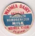 Buy HI Waimea Milk Bottle Cap Name/Subject: Waimea Dairy Grade AA Milk~294