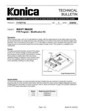 Buy Konica 01 WAVY IMAGE Service Schematics by download #135792