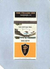 Buy CAN Tsawwassen Matchcover The Pillars Inn w/Small Map & Services Listed In~82