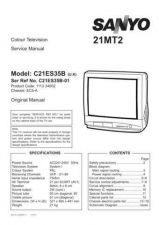 Buy Sanyo 21MT2 C21ES35B-04 S Manual by download #171184