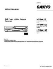 Buy Sanyo Service Manual For HV-DX1E Manual by download #175913