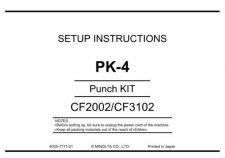 Buy Minolta UNPACKPK-4 Service Schematics by download #136815