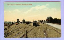 Buy CAN Moose Jaw Sask CPR Yards & Station View Down Tracks Various Types Of T~126
