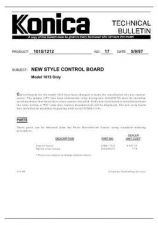 Buy Konica 17 NEW STYLE CONTROL BOARD Service Schematics by download #136014