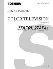 Buy TOSHIBA 27AF61 SM Service Schematics by download #159812