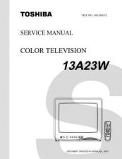 Buy TOSHIBA 13A23W SVCMAN Service Manual by download #167286