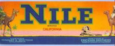 Buy CA Minkler Fruit Crate Label Nile Brand Grown & packed by Erikson Brothers~16