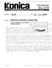 Buy Konica 01A IMPROVED FEEDING CAPABI Service Schematics by download #135793