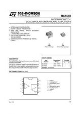 Buy SEMICONDUCTOR DATA MC4558J Manual by download Mauritron #189623