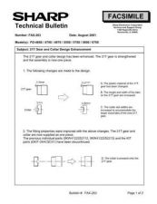 Buy Sharp FAX263 Technical Bulletin by download #138992