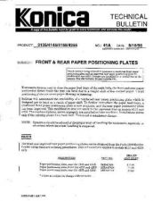 Buy Konica 41A FRONT AND REAR PAPER PO Service Schematics by download #136173