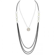 Buy Three-toned Layered Chain Necklace