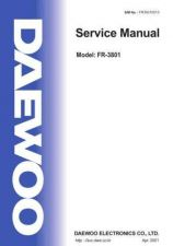 Buy DAEWOO SM FR-3801 (E) Service Data by download #146812