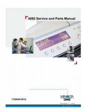 Buy KONICA MINOLTA QMS 4060 SERVICE MANUAL by download #152093