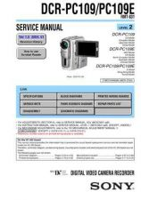 Buy SONY DCR-PC109PC109E Service Manual by download #166688