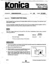 Buy Konica 58 TONER HOPPER SEAL Service Schematics by download #136224