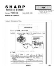 Buy Sharp TB94 832 Technical Bulletin by download #139109