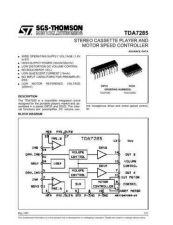 Buy MODEL TDA7285 Service Information by download #124780