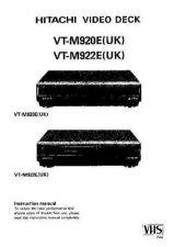 Buy Hitachi VTM930ECT EN Manual by download #171084