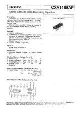 Buy INTEGRATED CIRCUIT DATA CXA1198APJ Manual by download Mauritron #186735