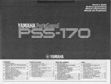 Buy Yamaha PSS170E Operating Guide by download Mauritron #205075