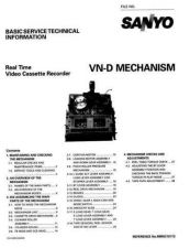 Buy Sanyo Service Manual For MECHANISM VN-D Manual by download #175956