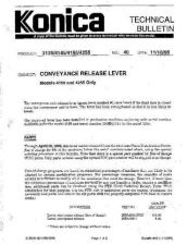 Buy Konica 40 CONVEYANCE RELEASE LEVER Service Schematics by download #136158