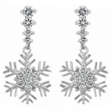 Buy Snowflake Drop Earrings