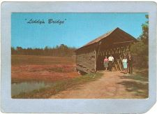 Buy AL Culman Covered Bridge Postcard Liddy's Bridge On Liddy's Lake World Gui~6