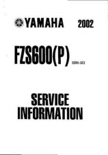 Buy Yamaha Fazer FZS600(P) '02 Supplementary Service Manual by download Mauritron