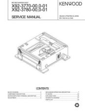 Buy KENWOOD X92-3770-00 0-01 X92-3780-00 0-01 Service Data by download #132824