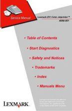 Buy LEXMARK Z51 4098 2 Service Manual by download #138011