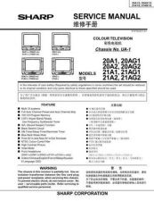 Buy Sharp 20-21D1-D2S-G SM GB Manual by download #169739