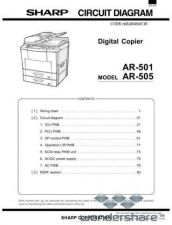 Buy Sharp 100 AR-505 CIRCUIT Manual.pdf_page_1 by download #177626