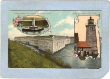 Buy CAN Quebec Lighthouse Postcard Point Au Roche Lighthouse & United States &~985