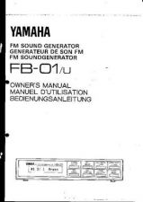 Buy Yamaha FB01E Operating Guide by download Mauritron #203698
