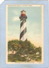 Buy FL St Augustine Lighthouse Postcard Anastsia Light House lighthouse_box1~125