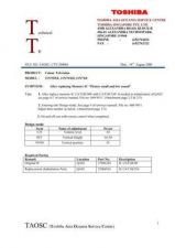 Buy TOSHIBA CTV-200003 SERVICE BULLETIN by download #132151