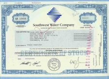 Buy DE na Stock Certificate Company: Southwest Water Company ~81