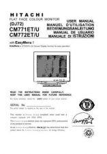 Buy Sanyo CM771ET DE Manual by download #173571