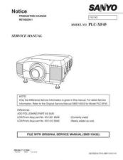 Buy Sanyo PLC-XC10-01 Manual by download #174850