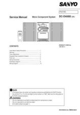 Buy Sanyo Service Manual For DC-DA1500 Supplement Manual by download #175602