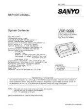 Buy Sanyo Service Manual For VSP-9000 by download #176316