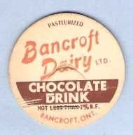Buy CAN Ontario Bancroft Milk Bottle Cap Name/Subject: Bancroft Dairy LTD. Cho~551