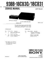 Buy SONY 93BB-18C831 Service Manual by download #166211