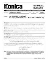 Buy Konica 14 DEVELOPER LEAKAGE - DEVELOPING UNIT CREDIT PROGRAM Service Schematics