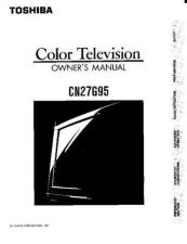 Buy Toshiba cn32g90 2 Manual by download #171939