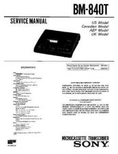 Buy SONY BM-840T Service Manual by download #166325